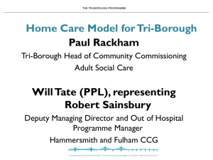 ri-borough Domiciliary Care tender process presentation