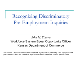 Preventing Discrimination in Employment Practices - Pages