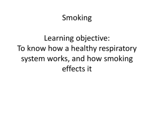 Smoking - Noadswood Science