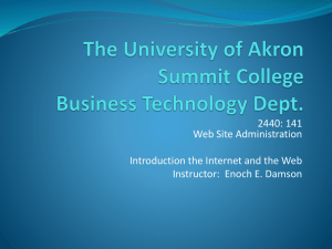 Introduction to the Web - gozips.uakron.edu