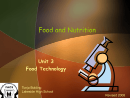 Food and Nutrition - Norfork-FACS