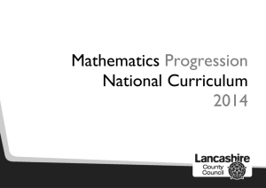 Mathematics Progression National Curriculum 2014