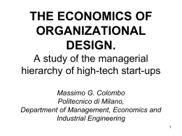 On the managerial professionalization of high-tech start-ups: