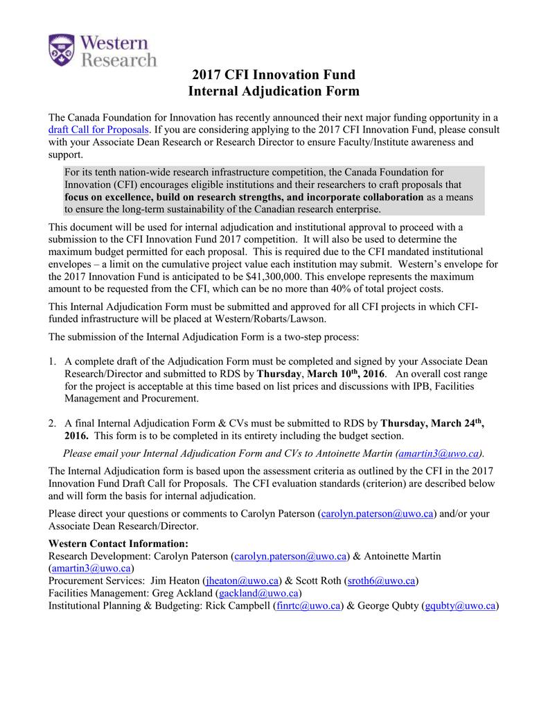 Internal Adjudication Form IF 2017