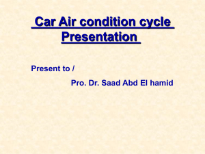 Car Air condition cycle