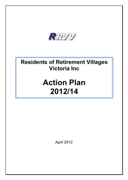 RRVV Action Plan 2012-2014 - Residents Of Retirement Villages