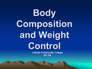 Chapter 7: Assessing Body Composition