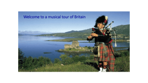Welcome to a musical tour of Britain