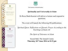Spirituality and Universality in Islam