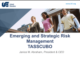 Emerging and Strategic Risk Management