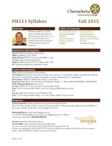 PH 201 General Physics Fall 2001