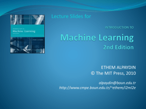 Introduction to Machine Learning