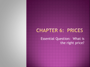 Chapter 6: Prices