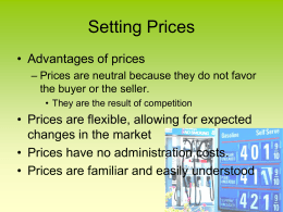 advantages of price ceiling