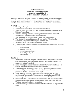 study guide psy 101 exam 1 Final exam for the course unit 1 study guide and review: the history and  methods of psychology page  psych101: saylor direct credit final exam quiz.