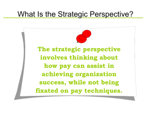 What Is the Strategic Perspective? - School of Business Administration
