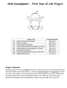 First year of life group project