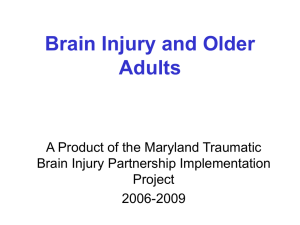 Brain Injury and Older Adults - Maryland Department of Health and
