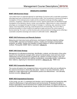 MGMT Course Descriptions 2015-16