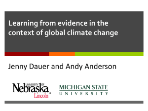 Dauer GSA 2013 learning from evidence climate change