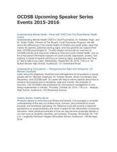 OCDSB Upcoming Speaker Series Events 2015