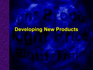 Developing New Products