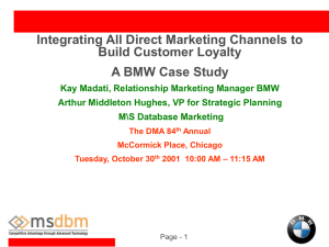 BMW Relationship Marketing Strategy