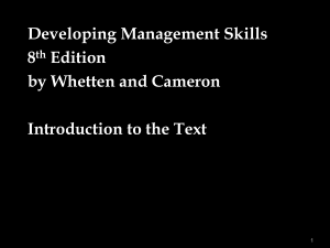 What are Management Skills?