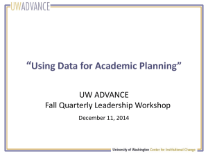 Using Data for Academic Planning
