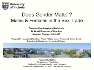 Does Gender Matter? - University of Victoria