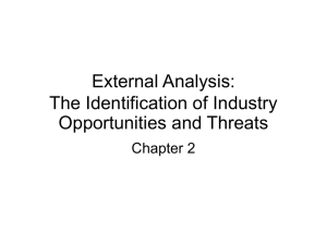 The Identification of Industry Opportunities and Threats