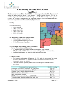 CSBG Fact Sheet 01.15.14 - New Mexico Human Services Department