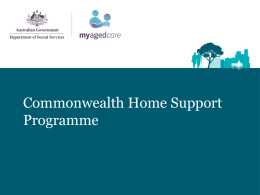 Commonwealth Home Care Support Presentation of 1 July 2015