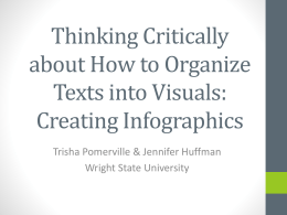 Thinking Critically about How to Organize Texts into Visuals