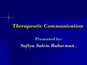 Therapeutic communication pourpoint new