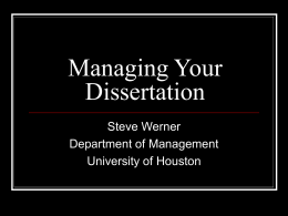 Ph.D - University of Houston