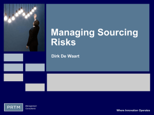 Managing Raw Material Risks - Supply Chain Risk Leadership