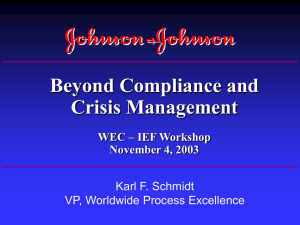 J&J Worldwide Practices - World Environment Center