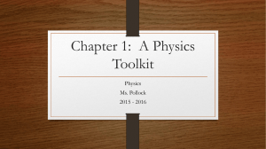 Chapter 1: A Physics Toolkit