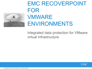 EMC RecoverPoint for VMware Environments