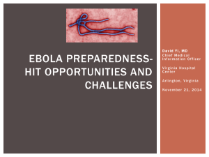 Ebola Preparation- HIT Challenges and Opportunities