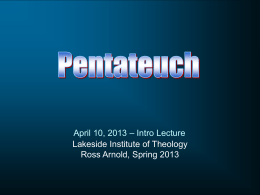 Lecture notes in PPT - Lakeside Institute of Theology