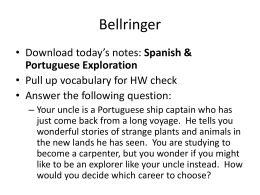 Spanish & Portugese Explorations Notes