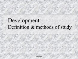Development: Definition and methods