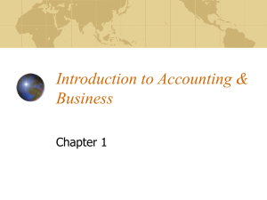 Introduction to Accounting & Business