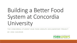 History of the Food Movement at Concordia University