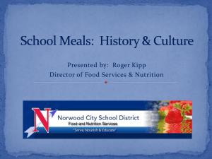 School Meals History Culture