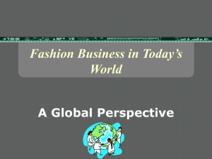 Fashion Business in Today's World