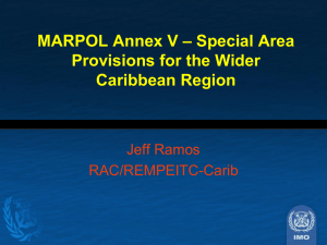 MARPOL Annex V – Special Area Provisions for the