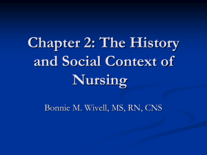 Chapter 2: The History and Social Context of Nursing